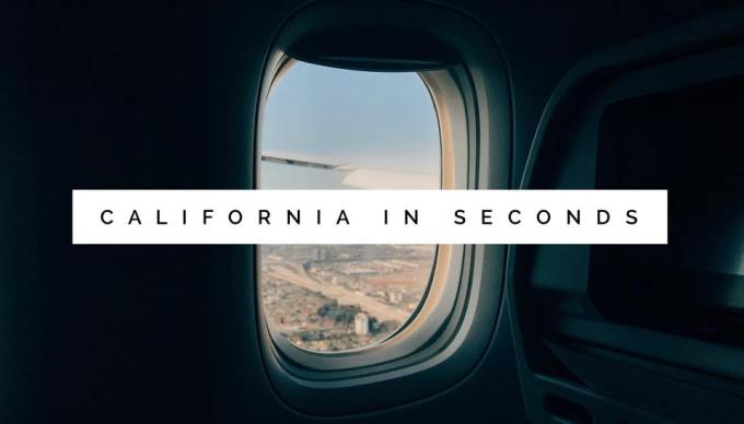 california in seconds.